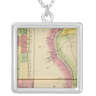 Upper Ohio River and Valley 5 Silver Plated Necklace