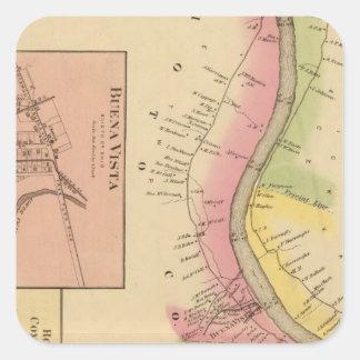 Upper Ohio River and Valley 6 Square Sticker