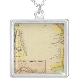 Upper Ohio River and Valley 7 Silver Plated Necklace
