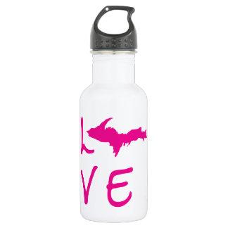 Upper Peninsula LOVE (Pink Logo) Water Bottle 532 Ml Water Bottle