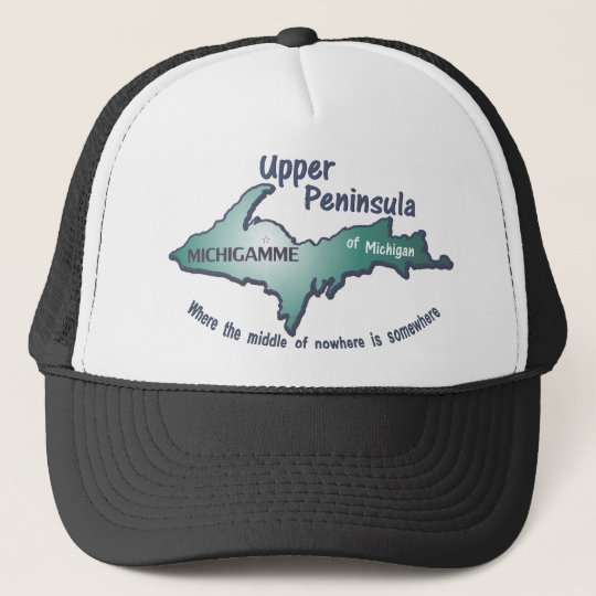 Upper peninsula michigamme middle of nowhere cap