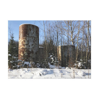 Upper Peninsula Michigan Industrial Art Canvas Print