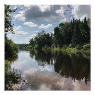 Upper Peninsula Michigan Landscape Print Poster