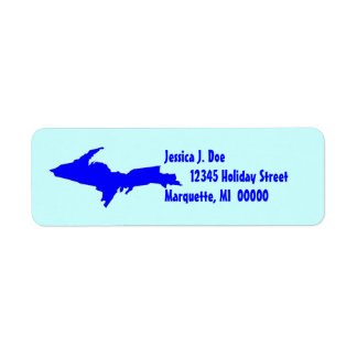 Upper Peninsula Michigan UP Return address Label
