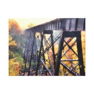 Upper Peninsula Train Trestle Canvas Print