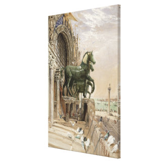 Upper portion of the facade of St. Mark's Church, Canvas Print