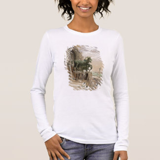 Upper portion of the facade of St. Mark's Church, Long Sleeve T-Shirt