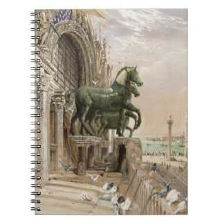 Upper portion of the facade of St. Mark's Church, Notebooks