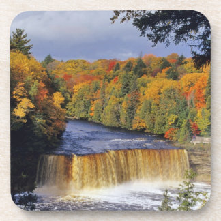 Upper Tahquamenon Falls in UP Michigan in autumn Coaster