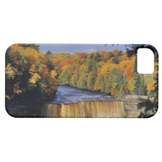 Upper Tahquamenon Falls in UP Michigan in autumn iPhone 5 Cover