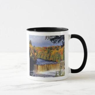 Upper Tahquamenon Falls in UP Michigan in autumn Mug
