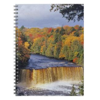 Upper Tahquamenon Falls in UP Michigan in autumn Notebook