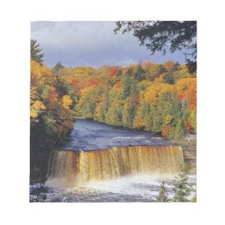 Upper Tahquamenon Falls in UP Michigan in autumn Notepad