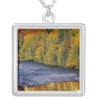 Upper Tahquamenon Falls in UP Michigan in Silver Plated Necklace