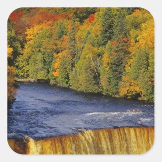 Upper Tahquamenon Falls in UP Michigan in Square Sticker