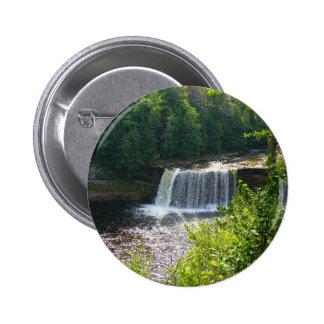 Upper Tahquamenon Falls, Michigan 6 Cm Round Badge