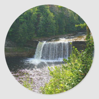 Upper Tahquamenon Falls, Michigan Round Sticker