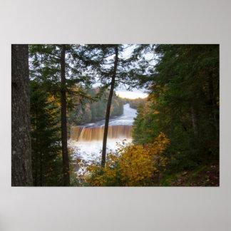 Upper Tahquemenon Falls, Autumn, Michigan Poster