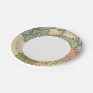 Upper Territories of the the United States Paper Plate