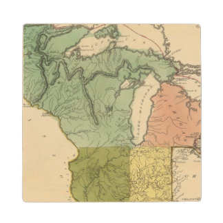 Upper Territories of the the United States Wood Coaster