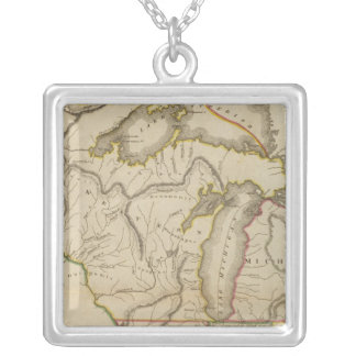 Upper Territories of the United States Silver Plated Necklace
