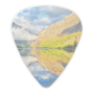 Upper Two Medicine Lake at Sunrise Acetal Guitar Pick