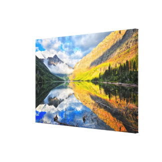 Upper Two Medicine Lake at Sunrise Canvas Print