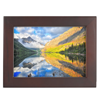 Upper Two Medicine Lake at Sunrise Keepsake Box