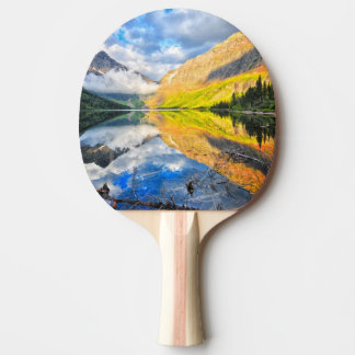 Upper Two Medicine Lake at Sunrise Ping Pong Paddle