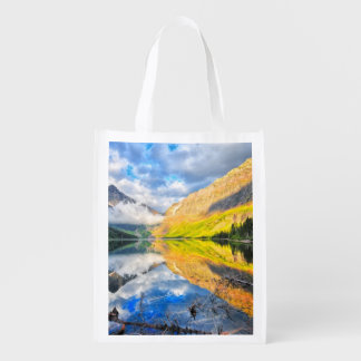 Upper Two Medicine Lake at Sunrise Reusable Grocery Bag