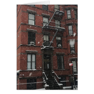 Upper West Side Fire Escape NYC New York Winter Card