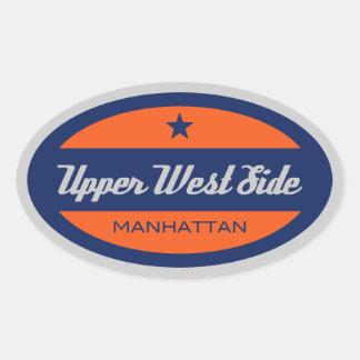 Upper West Side Oval Sticker