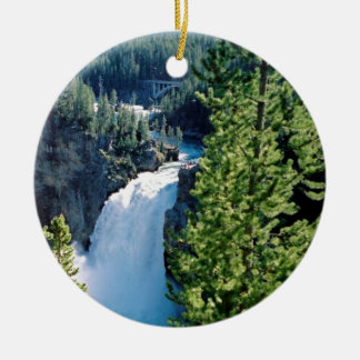 Upper Yellowstone Falls Christmas Ornament