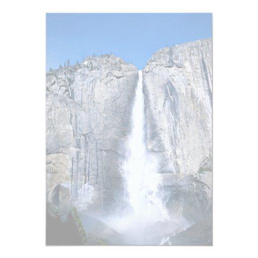 Upper Yosemite Falls, California, U.S.A. 13 Cm X 18 Cm Invitation Card