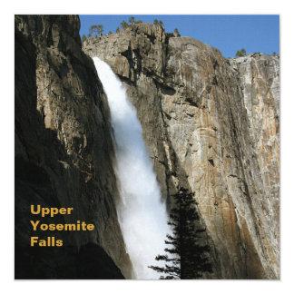 Upper Yosemite Falls in California 13 Cm X 13 Cm Square Invitation Card