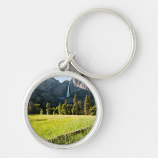 Upper Yosemite Falls Silver-Colored Round Key Ring