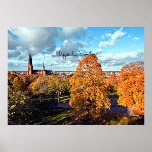 Uppsala, Sweden landscape Poster