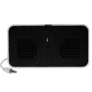 Upright Bass Player Outline Country Style Portable Speakers