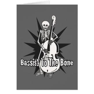 Upright Bass Playing Skeleton Greeting Card