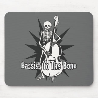 Upright Bass Playing Skeleton Mouse Mat