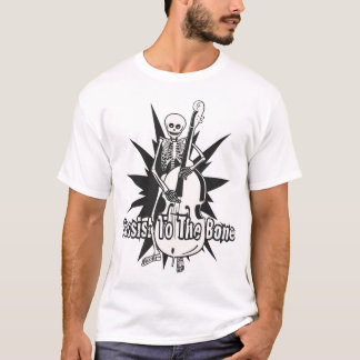 Upright Bass Playing Skeleton T-Shirt