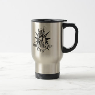 Upright Bass Playing Skeleton Travel Mug