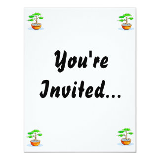 Upright Bonsai Orange Bowl Graphic Image 11 Cm X 14 Cm Invitation Card