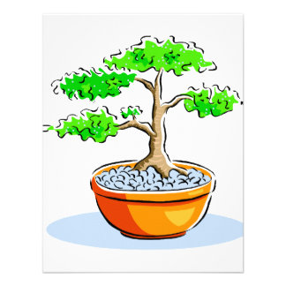 Upright Bonsai Orange Bowl Graphic Image Invite
