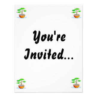 Upright Bonsai Orange Bowl Graphic Image Invitations