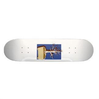 Upright Bonsai Trimmed Against Blue Back 18.1 Cm Old School Skateboard Deck