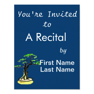 Upright Deadwood Bonsai Green Leaves Personalized Invite