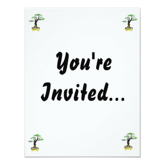 Upright Deadwood Bonsai Green Leaves Personalized Announcement