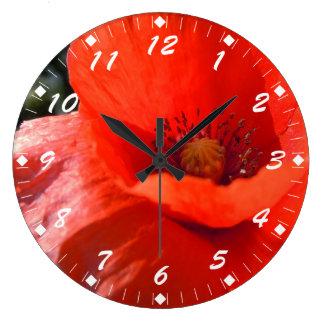 Upright Poppy Large Clock