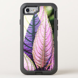 Upright Purple Leaves OtterBox Defender iPhone 8/7 Case